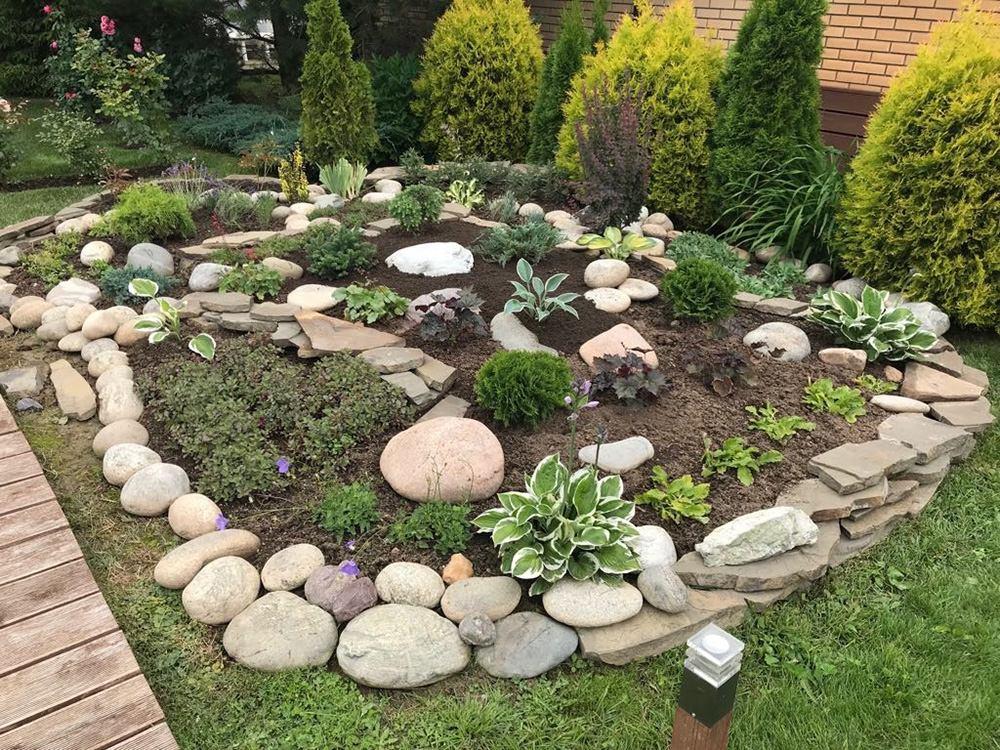 Примеры работ - рокарий в саду